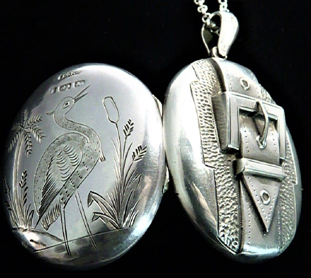 Victorian Aesthetic Sterling Hallmarked Silver Locket