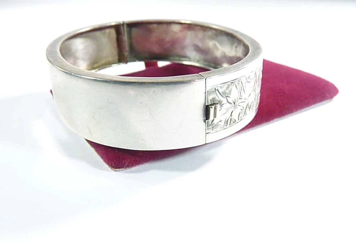 25th Anniversary Gifts Hallmarked Victorian Aesthetic Sterling Silver Bracelet 1883