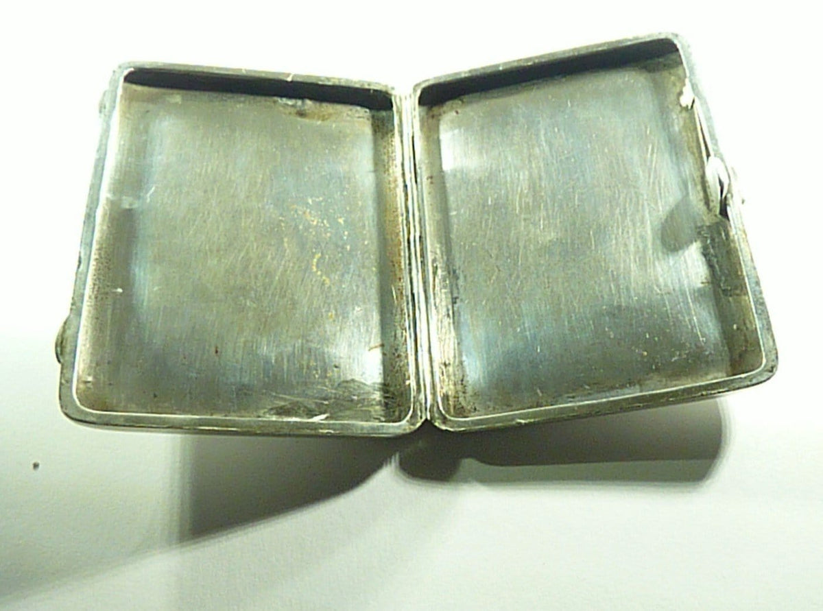Large Victorian Sterling Silver Cigarette Case