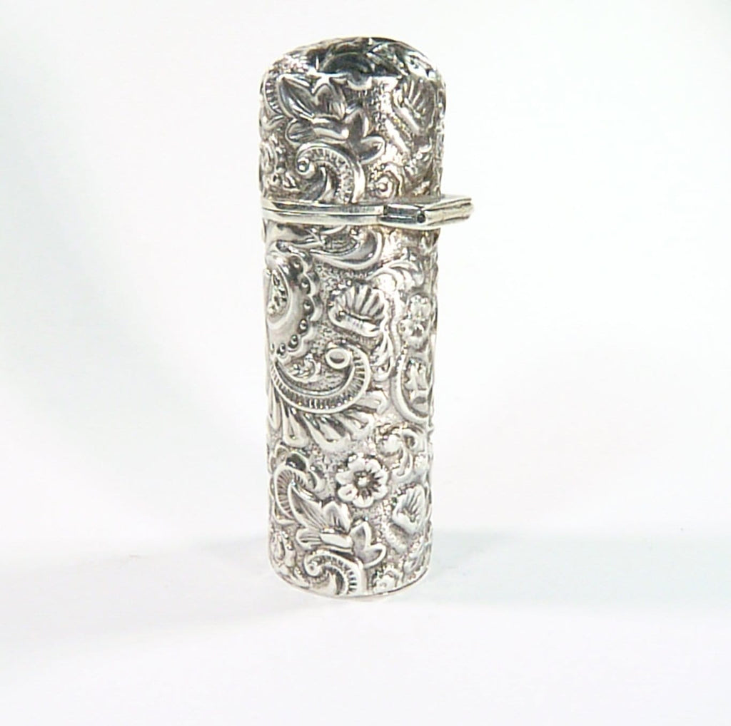 Victorian Sterling Silver Perfume Bottle