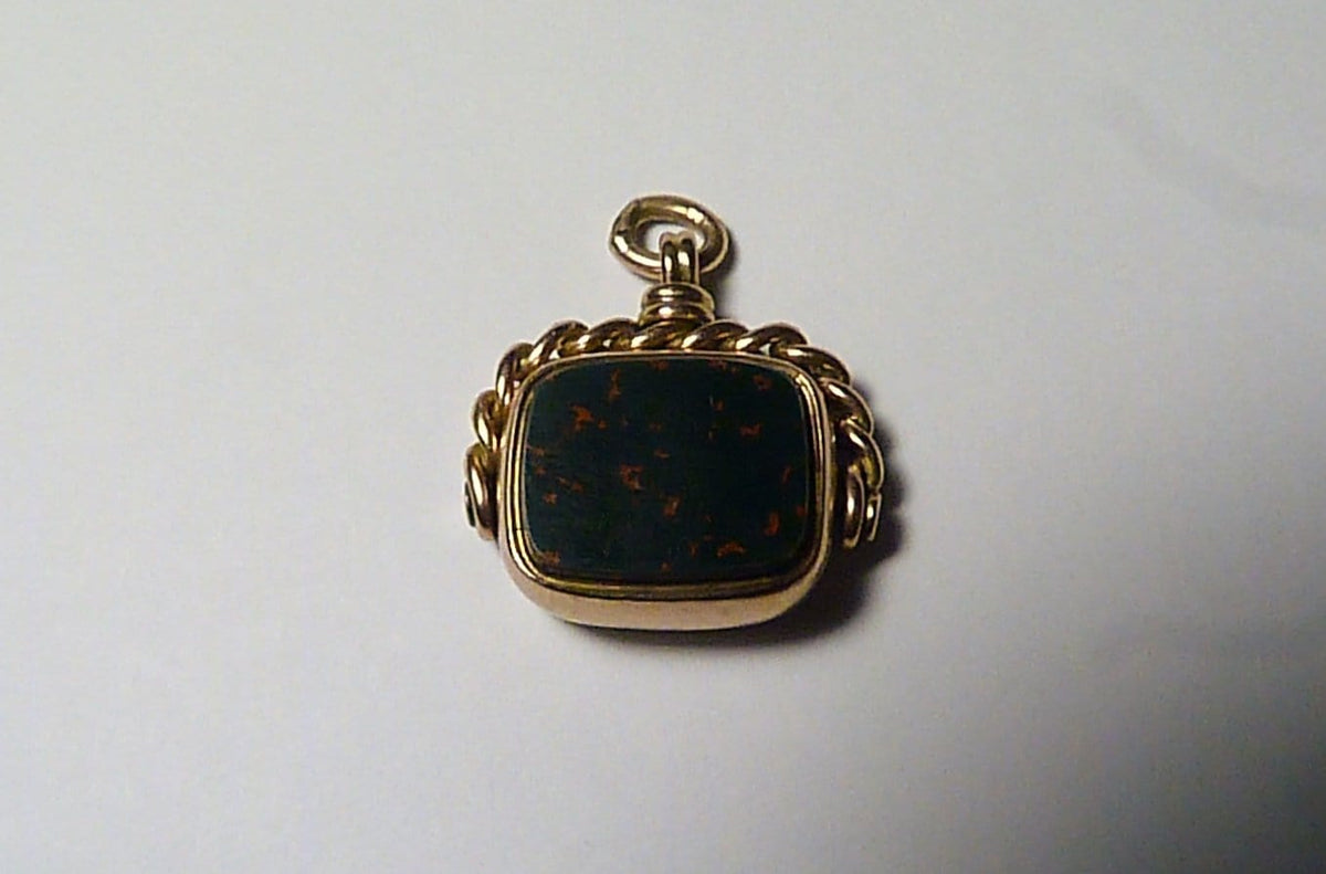 Victorian gold fobs classic bloodstone