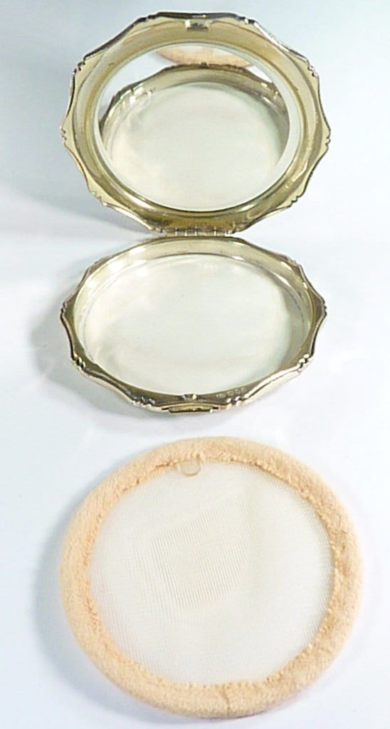 Vintage Compact Case For Loose & Compressed Powder
