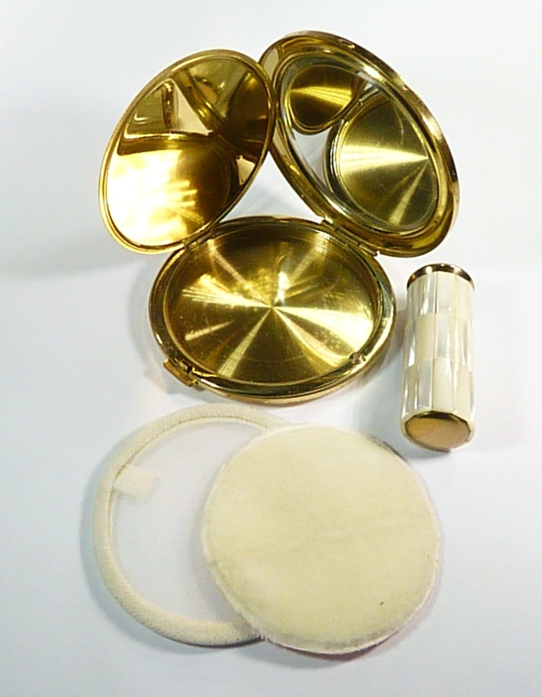 Vintage Compact Case For Loose Face Powder