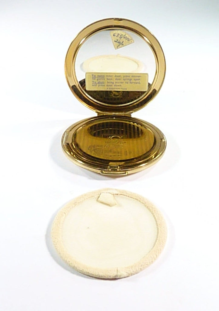 Vintage Compact Case With Mirror