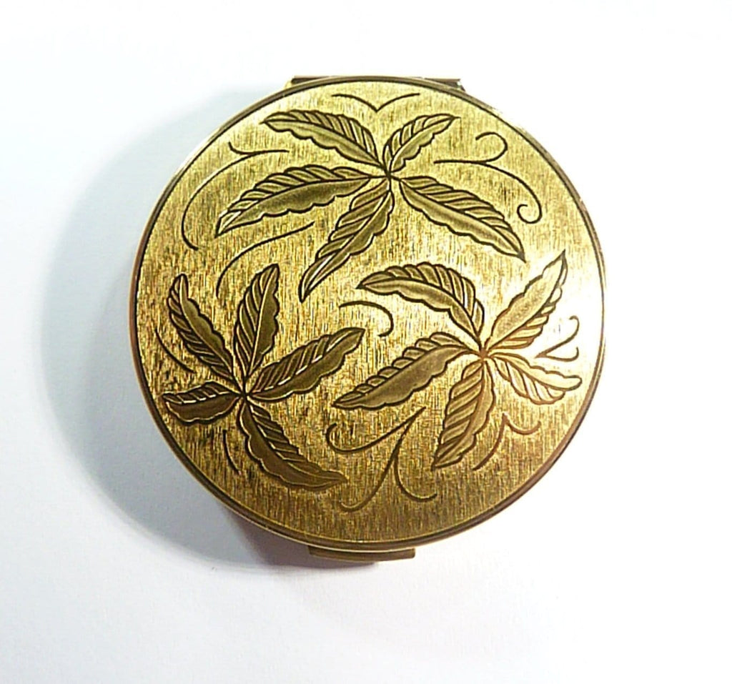 Vintage Golden Stratton Compact For Loose Face Powder