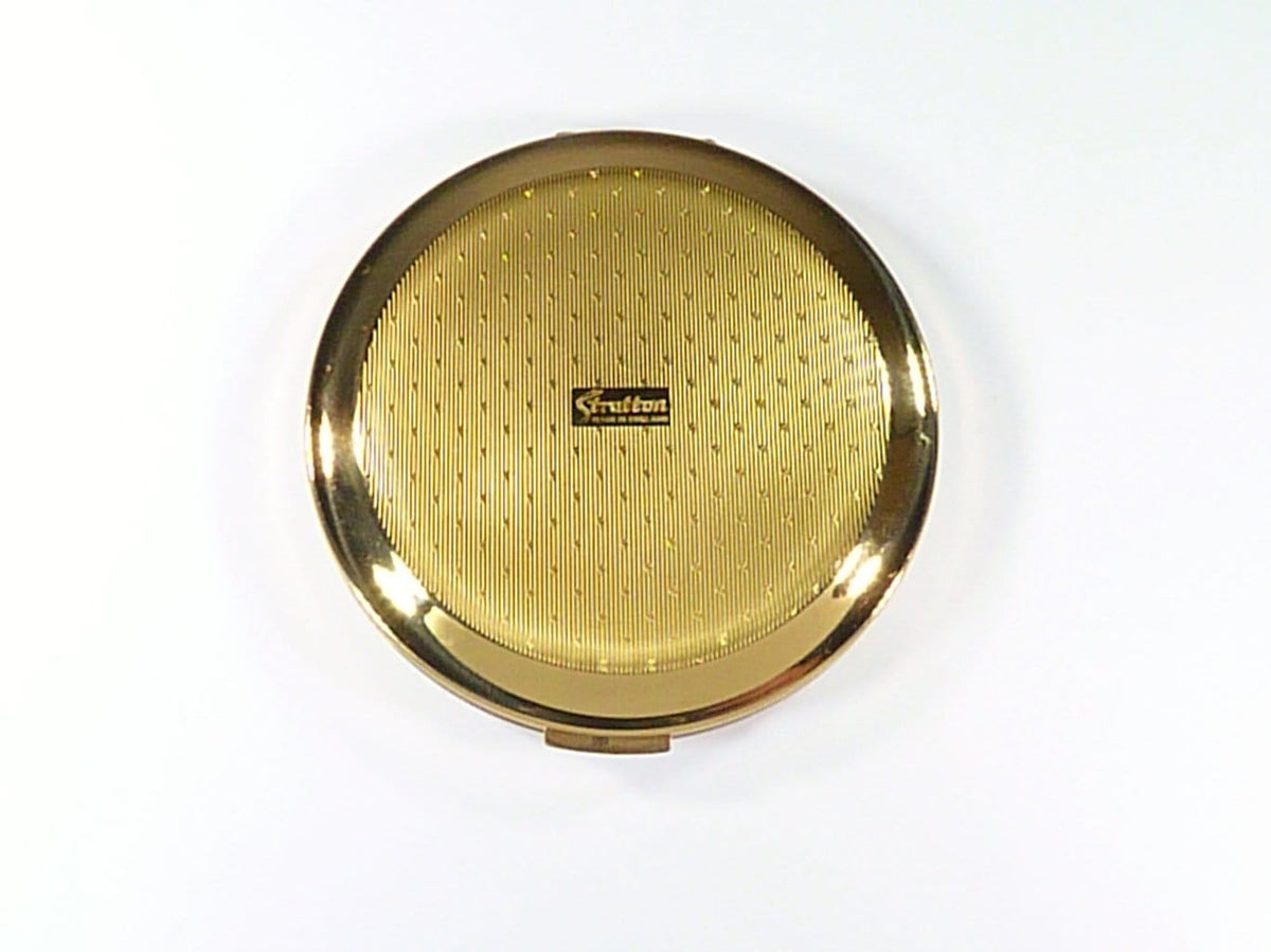 Unused Stratton Compact For Loose And Compressed Face Powder 1970s