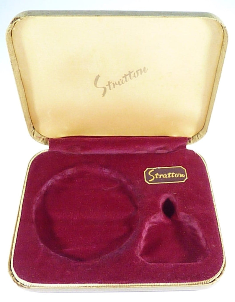 Vintage Powder Compact And Perfume Bottle