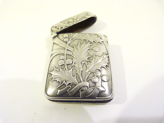 Charles Murat vesta case antique French silver vesta cases 1890s