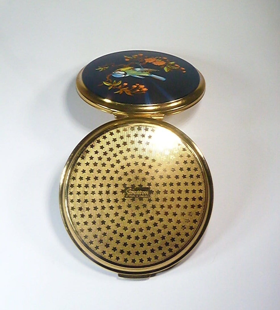 antique enamel compact mirror compact mirrors