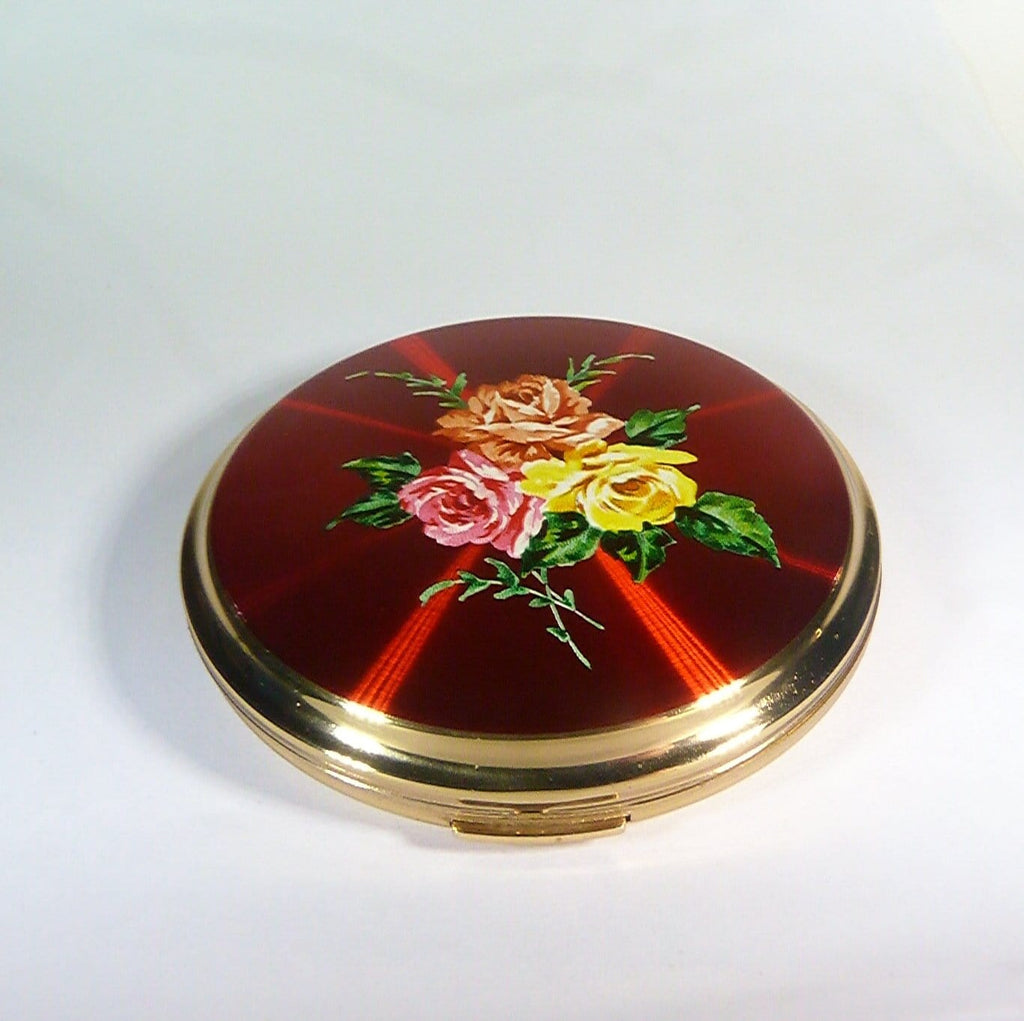 antique enamel powder compacts