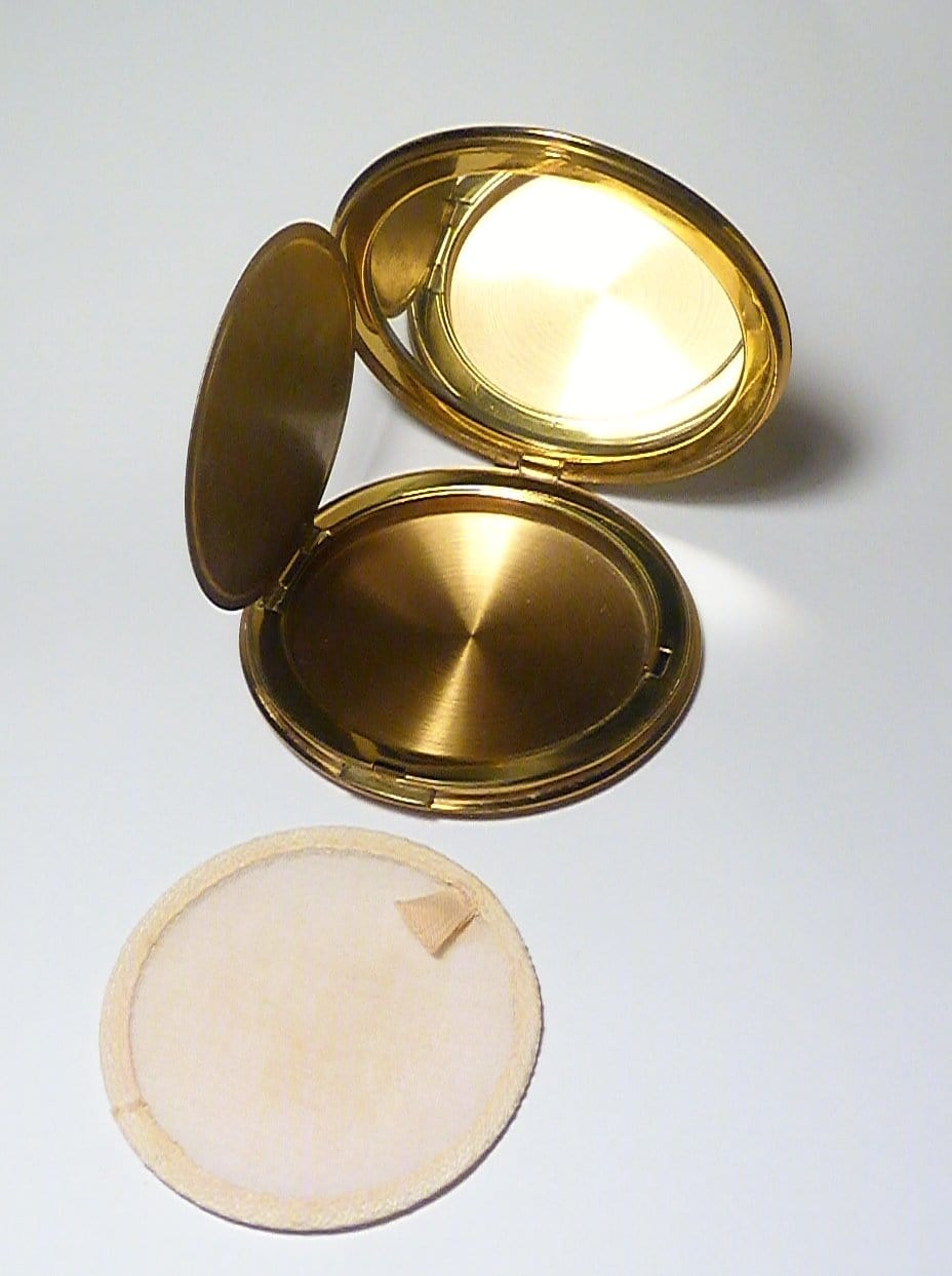 antique guilloche powder compacts