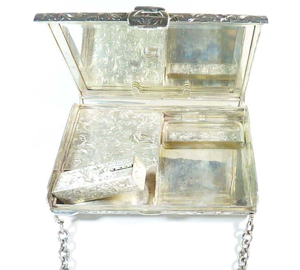 antique hallmarked silver vanity case