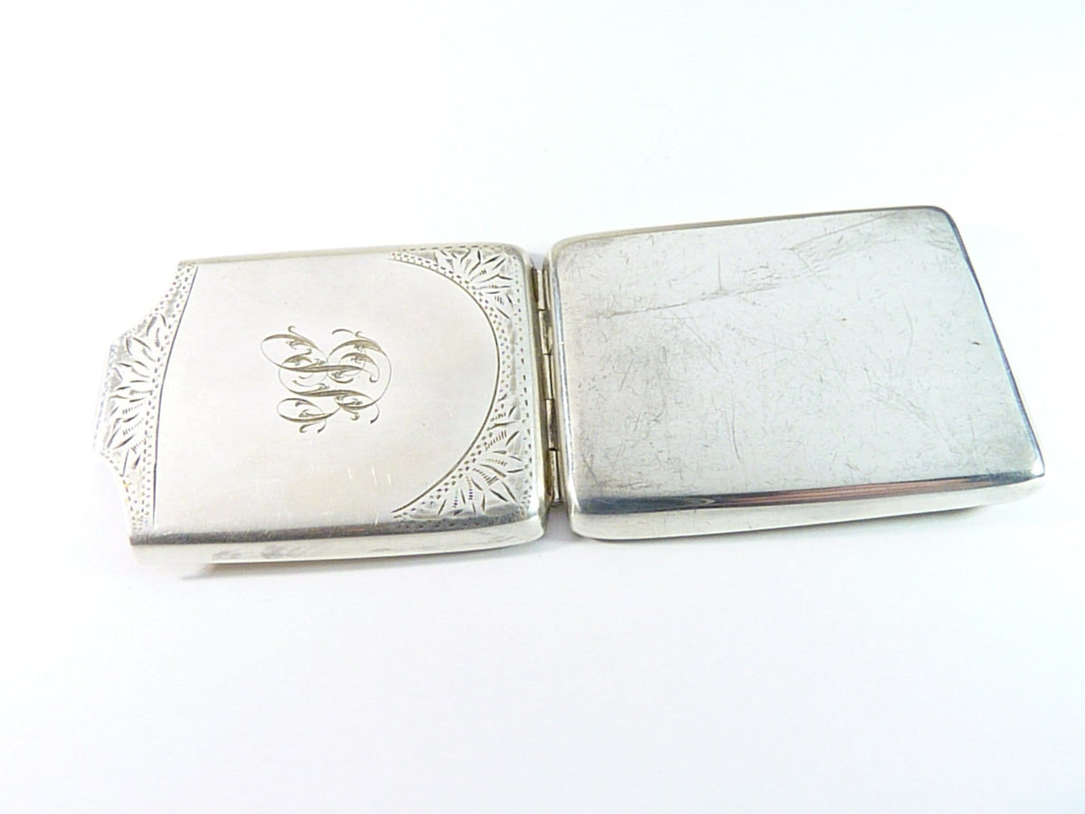 Antique Hallmarked Silver Match Book Holder Vesta Case 1928