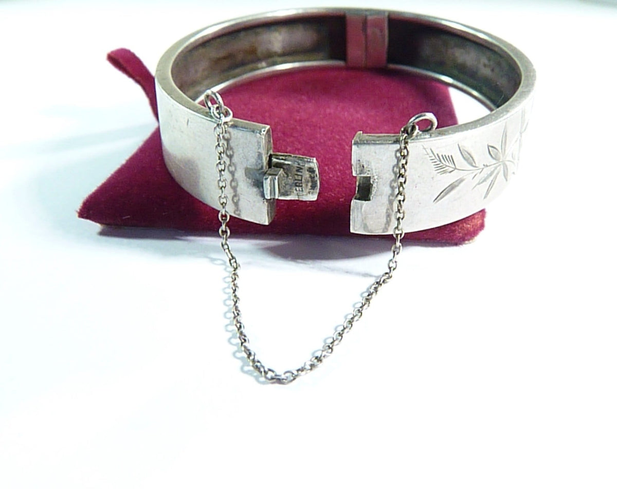 antique silver bracelet 1800s