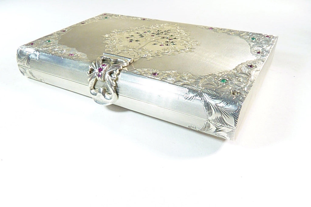antique silver clutch 1950s glamorous accessories