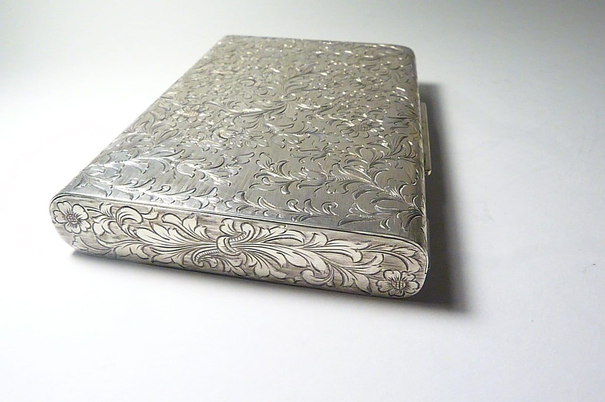 Sterling Silver Minaudiere Solid Silver Nécessaire Hallmarked Bridal Clutches 1950s