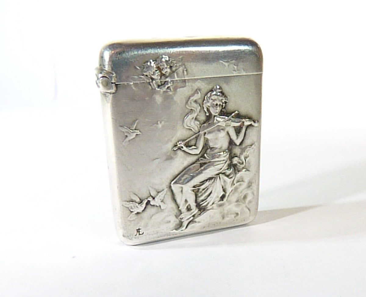 antique hallmarked silver match safe