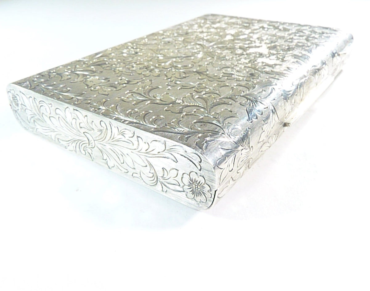 antique silver vanity case hallmarked