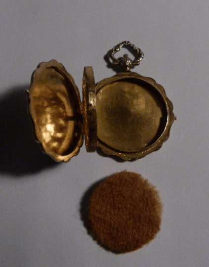 French vermeil vinaigrette silver gilt locket 19th century