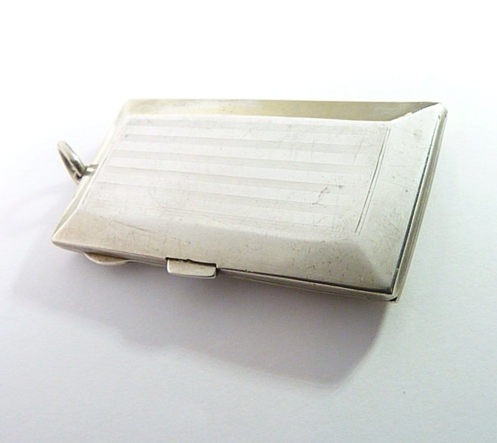 antique sterling silver small cigarette case for ladies