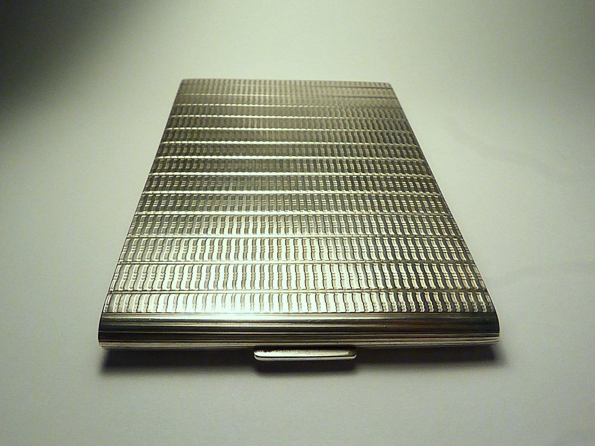 Large Solid Silver Cigarette Case