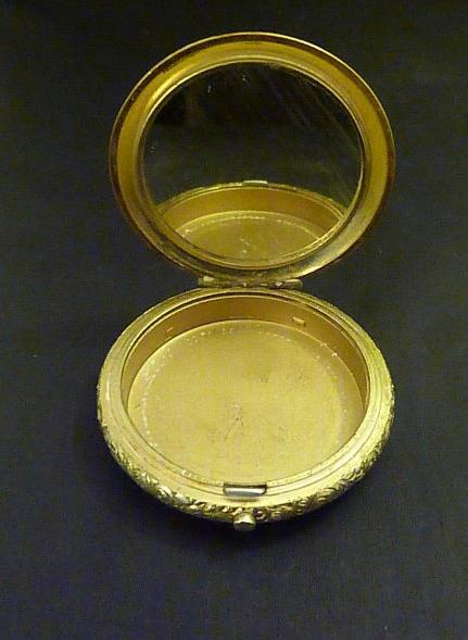 Rare Elgin American compact femme head compact 1930s