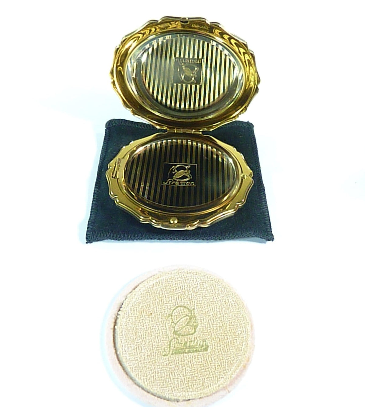 boxed complete Stratton compact vintage