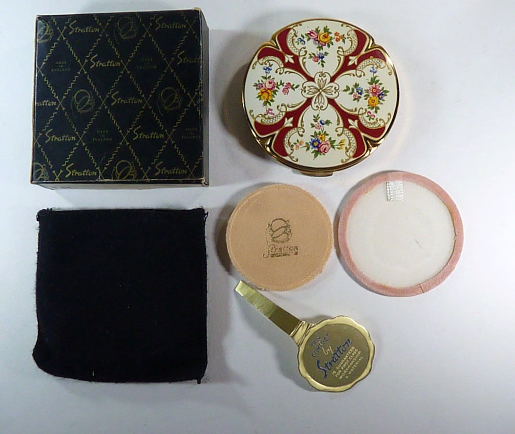 boxed vintage Stratton powder compact