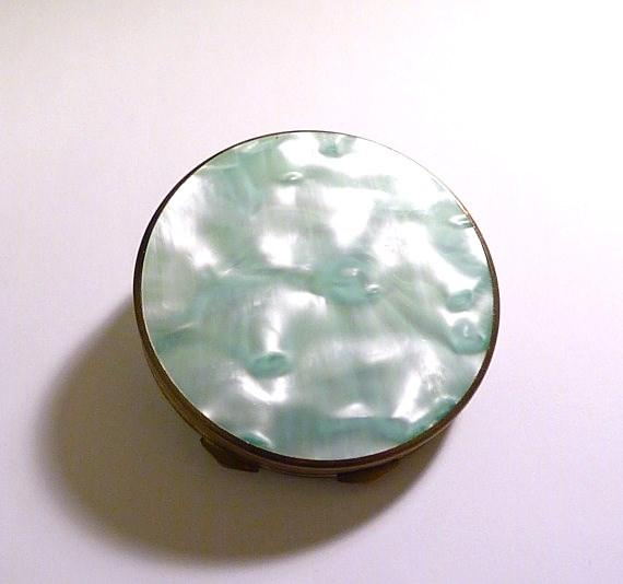 celluloid antique powder mirror compacts