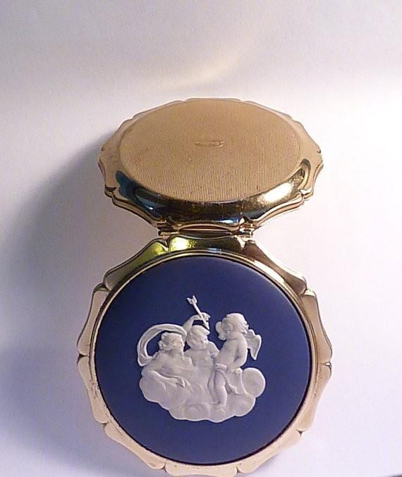Something blue gifts vintage Valentines gifts for her CUPID 1970s - The Vintage Compact Shop