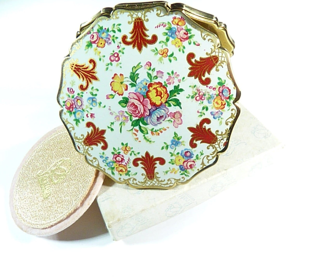 early 1950s colourful handbag mirror film props