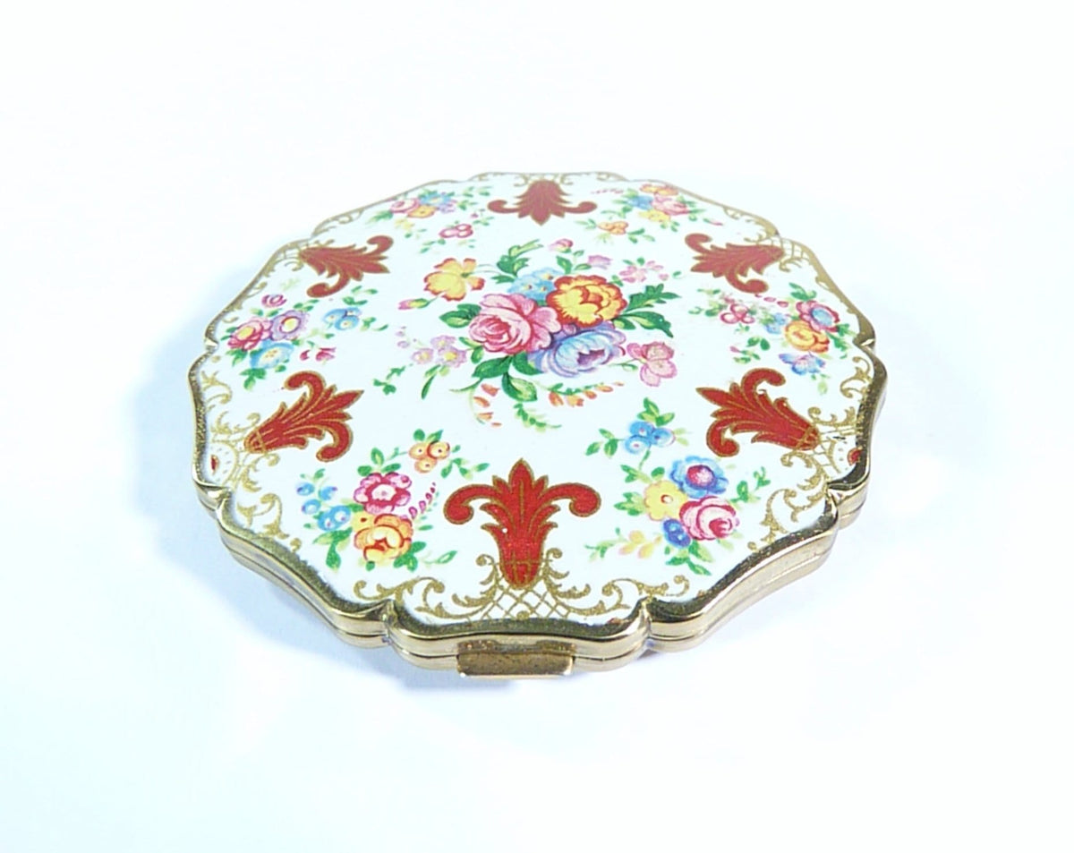 enamel compact case with mirror