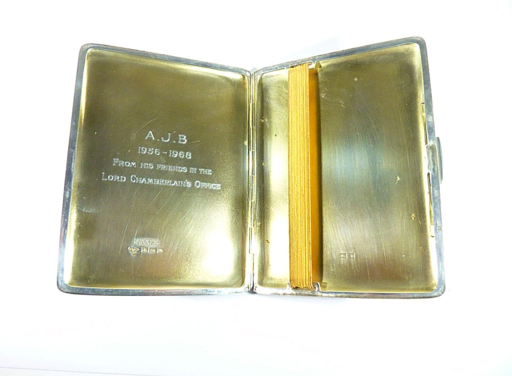engraved Aprey.com sterling cigarette case