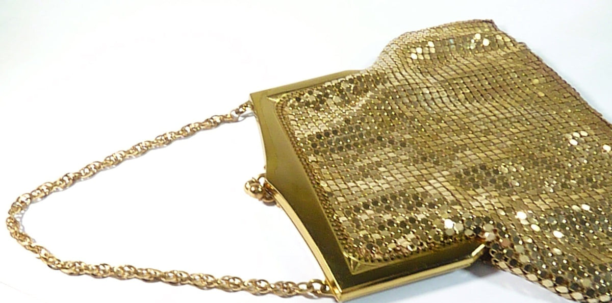 Antique Gold Mesh Purse Whiting & Davis 1940s