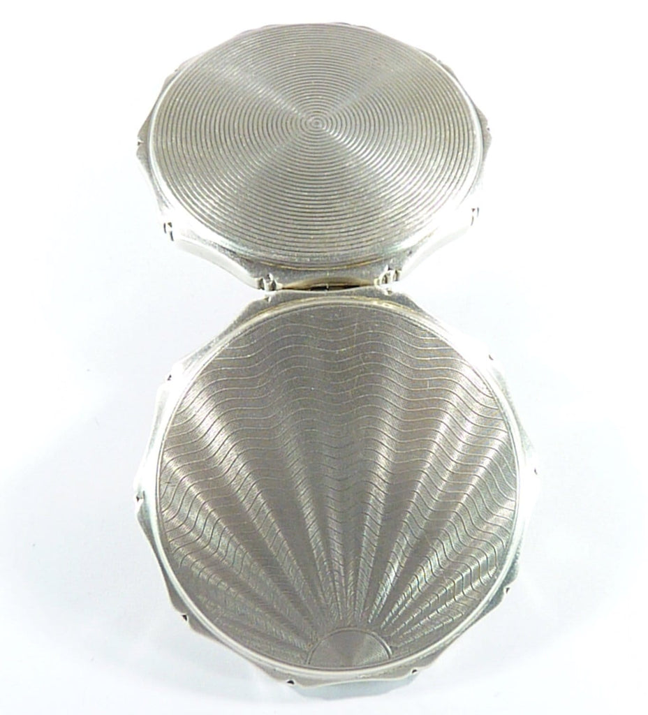 hallmarked silver antique powder compact