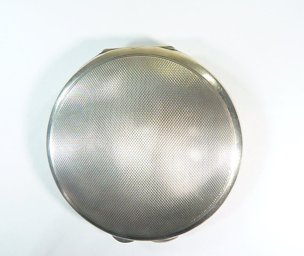 hallmarked silver loose powder compact