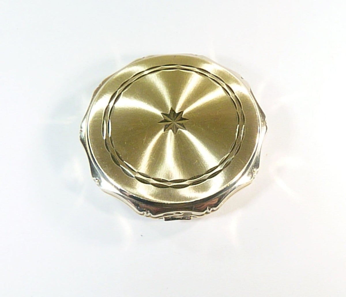 hallmarked silver powder compact
