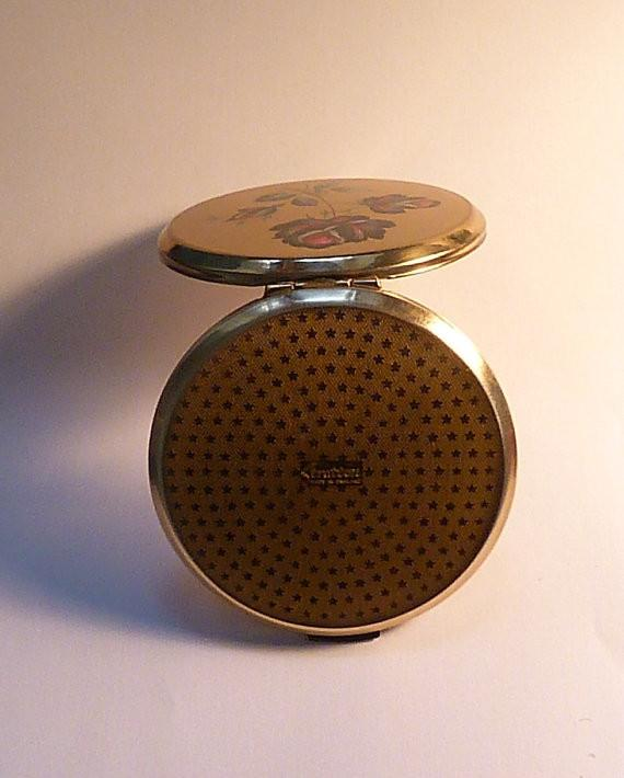 Vintage vanity mirrors gifts for her 1970s Stratton powder compacts