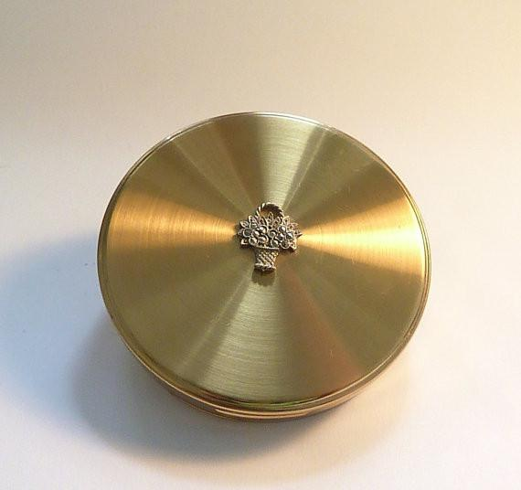 Vintage powder compacts mid-century antique gifts for women 1950s Margaret Rose compact mirrors - The Vintage Compact Shop