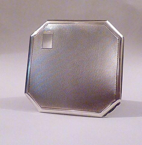 Antique christening silver gifts Art Deco Crisford & Norris sterling silver compact 1934 - The Vintage Compact Shop