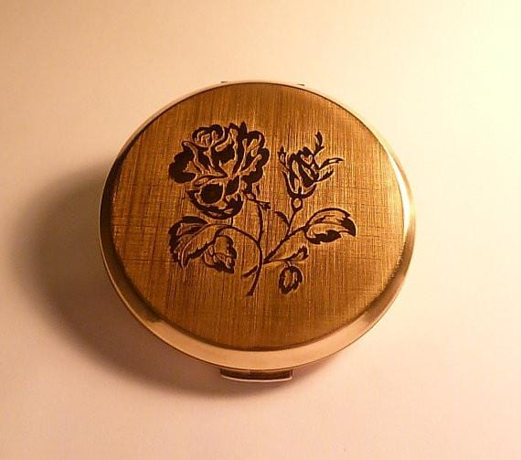 Stratton compact mirrors vintage bridesmaid gifts floral compacts gift for moms / mums 1970s - The Vintage Compact Shop