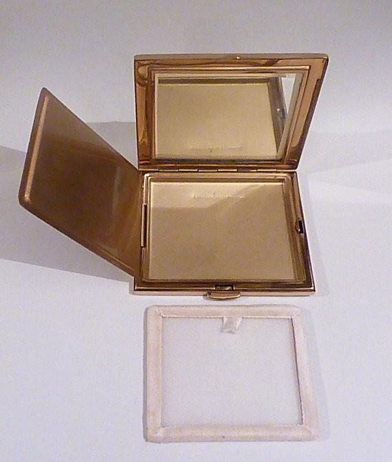Rare French glitter compact vintage powder compact compact mirrors - The Vintage Compact Shop