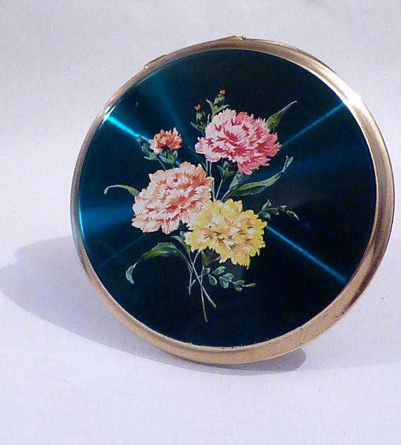 Vintage powder compact compact mirrors 1960s enamel Stratton 'Convertible' powder compact Stratton for sale wedding gifts bridesmaids gifts - The Vintage Compact Shop