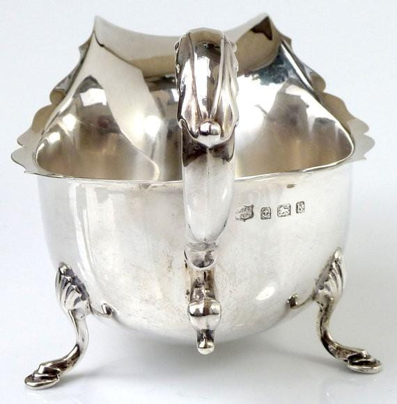 Sterling sauce boat / gravy boat solid silver wedding anniversary gifts wedding gifts for the couple English silver - The Vintage Compact Shop
