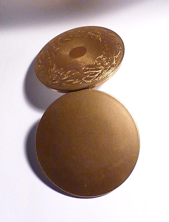 Vintage copper wedding gifts for her compact mirror 1940s powder compact - The Vintage Compact Shop