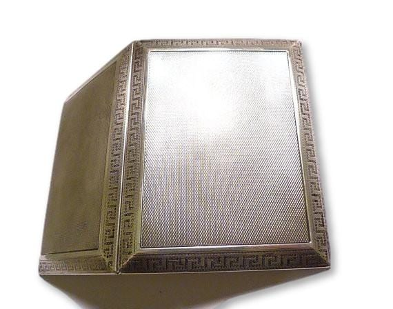 1927 Asprey sterling silver cigarette case Art Deco card case
