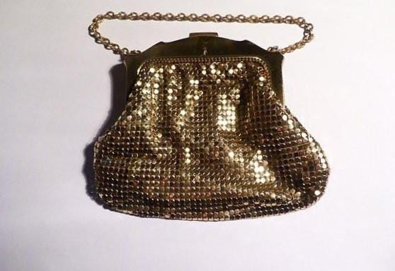 Bridal clutches vintage Whiting and Davis mesh bag / mesh purse wedding accessories 1940s