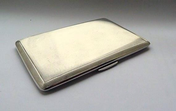 Solid Silver Cigarette Cases Large Garrard & Co Sterling Silver Cigarette Holders 1961