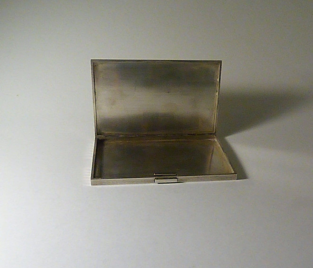 large solid silver business card cases