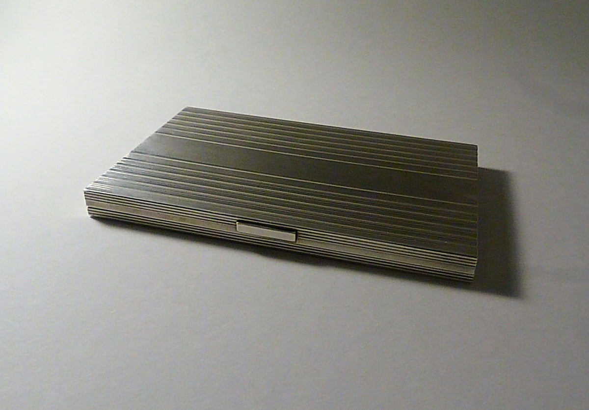 long solid silver cigarette cases